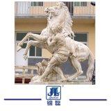 Statua animale di pietra di marmo beige/bianca della scultura del giardino intagliata mano, che intaglia per il giardino