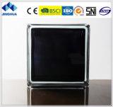 Jinghua高品質によって着色される黒い190X190X80mmのガラスレンガかブロック