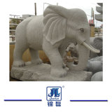 Het hand Gesneden Beeldhouwwerk van de Tuin, het Beige/Witte Marmeren Snijden van het Standbeeld van de Steen Dierlijke voor Tuin