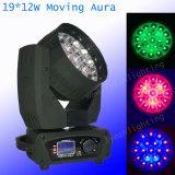 cabeça movente da aura de 19X12W RGBW