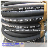 SAE100r12 bewoog de Draad van het Roestvrij staal Boor RubberSlang spiraalsgewijs