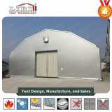 шатер структуры полигона ширины 20m стальной с стенами крышки и сандвича крыши PVC и дверью завальцовки
