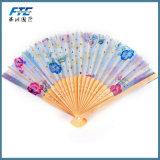 レトロの古典的な中国の折るタケ花模様のレース手のファン