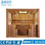 Het Huis die van de Stijl van Finland de Traditionele Houten Zaal van de Sauna gebruiken (m-6046)