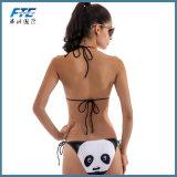 Swimsuit износа пляжа Бикини девушки способа сексуальный