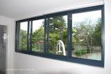 Alumínio de vidro dobro selado silicone Windows deslizante para a prova do furacão