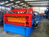 Double couche formant le roulis en acier de tuile de toit de couleur de machine formant la machine