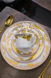둥근 금 Uncaria 연회 향연 세트 4개 피스 식기류
