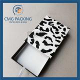 Caja de cartón plegada negra con ventana de PVC (CMG-PGB-025)