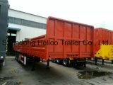 Shandong Helloo Tráiler marca Fuwa 60 Ton van de verificación de los ejes del remolque semi