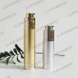 Botella sin aire de acrílico del tornillo de plata del oro para el empaquetado cosmético (PPC-NEW-015)