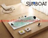 Eingebauter Luxuxtyp emaillierte Stahlbadewanne