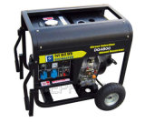 HandleおよびWheelsの6.0kw Air Cooled Portable Diesel Generator