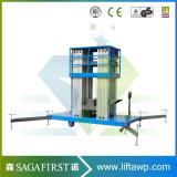 ascenseur de levage d'ouvrier d'alliage d'aluminium de 6m-12m