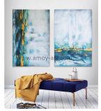 Ручная работа смешанной группе Цвета картины абстрактного искусства на стене полотенного транспортера