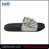 Dame-im Freien geöffnete Zehe Slippers mit Raupe-Verzierung