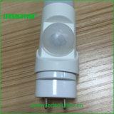 T8 운동 측정기 LED 가벼운 18W 4FT PIR LED 관 빛