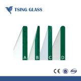 Effacer psc durci à motifs stratifié en verre trempé teinté pour la construction