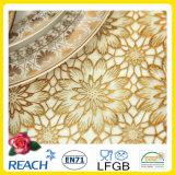 Mantel redondo del ganchillo del oro del cordón del PVC 180cm Wedding / Party Deco. (JFTB - 007B)