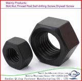 Acier du carbone normal de noix de tête Hex DIN934 galvanisé