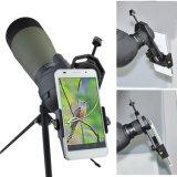 Smartphone Capturerの双眼鏡のMonocular偵察のスコープの望遠鏡および顕微鏡と互換性があるユニバーサル携帯電話のアダプターの台紙
