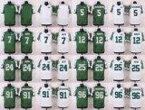 Дешевые мужские детей женщин малышей Нью-Йорк христианских Hackenberg Geno Смит Джо Namath Elite белый зеленый американского футбола футболках Nikeid Custom любое имя цифры
