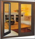 Haut Grade Fenêtre à battant en aluminium de couleur champagne (ACW-030)