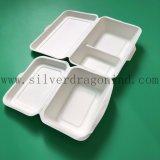 生物分解性の白いカラーは使い捨て可能なお弁当箱を取り除く