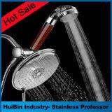 Ultra-Luxus Niederschlag/Hand-BADEKURORT Dusche kombiniert mit 6 Fuß Edelstahl-Schlauch-Hochdruckwand-Montierungs-Dusche-Kopf-plus 5 einstellend Hand und Absaugung-Cup ha