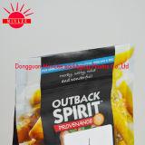 Parte inferior do FDA/saco quadrados da caixa com o Zipper para o alimento