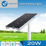 Réverbère extérieur économiseur d'énergie solaire de détecteur de DEL