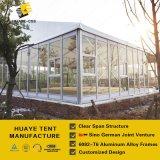 Barraca de alumínio dobro do pico elevado com paredes de vidro & a porta de vidro (HAF)
