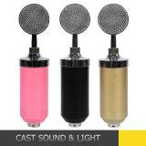 Microfono professionale dello studio del condensatore con il supporto del supporto di scossa