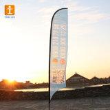 Feder-Markierungsfahne, die Polyester-Fliegen-Strand-Fahnen-Markierungsfahne (TJ-05, bekanntmacht)