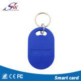 ABS Shaped Keychain de la casa de encargo del nombre Em4100 125kHz RFID