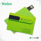 Lecteur flash USB par la carte de crédit de vente chaud avec la capacité totale (WY-C06)