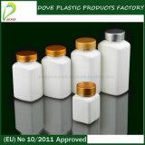 recipiente di plastica rettangolare dell'HDPE 150ml con il coperchio a vite normale