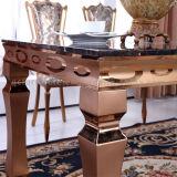 Rosen-GoldEdelstahl-Bein-Marmorspitzenwohnzimmer-Tisch