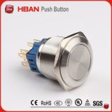 Ce ISO9001 22m m interruptor de pulsador de 4 Pin que traba el interruptor de autoretención del interruptor de pulsador