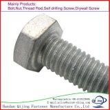 DIN 931 DIN933 Vis et écrou hexagonal de zinc galvanisation à chaud HDG Vis tour 4,8 Grade