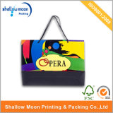 Bolsa de papel de la maneta fina colorida de la impresión que hace compras (QY150290)
