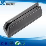 Leitor de cartão magnético Mini 123 Leitor de cartão portátil Magstripe para cartão de crédito Cartão bancário