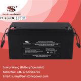 Bateria de armazenamento profunda da potência da bateria 12V 150ah do gel do painel solar do ciclo