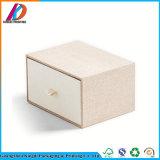 Rectángulo de lino del cajón de la cartulina de la cubierta que empaqueta con la almohadilla