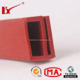 Extrusão de alta qualidade em borracha de silicone de alta temperatura das orlas em tiras para equipamento eléctrico