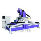 El corte CNC Máquina de ATC con múltiples herramientas de perforación de pandillas, la unidad de perforación, para la fabricación de muebles y puertas