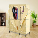 Hot Sale Portable Chrome Bedroom Wardrobe Rack with Wheels
