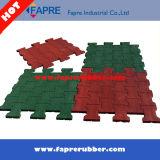 赤い犬骨のペーバーのゴム製煉瓦タイル