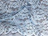 Fashion broderie vêtement blanc tissu textile dentelle de coton