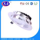 Carcasa metálica de 9W de iluminación LED lámpara de techo LED 9W Downlights LED mayorista chino